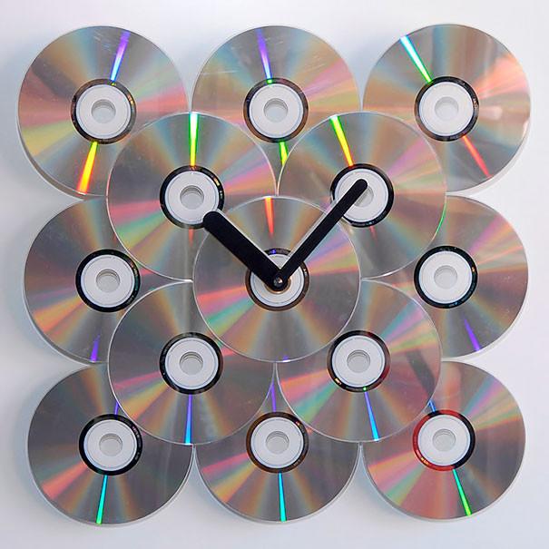 Крутые настенные часы диск, своими руками, сделай сам
