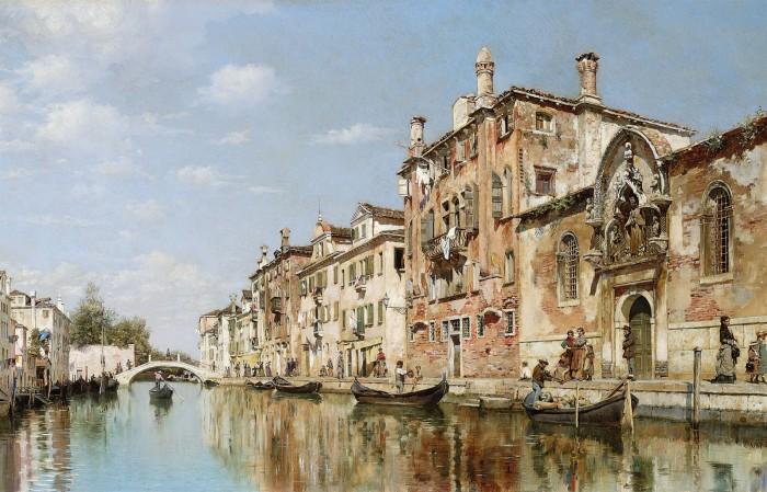 городские пейзажи художника Federico del Campo - 03