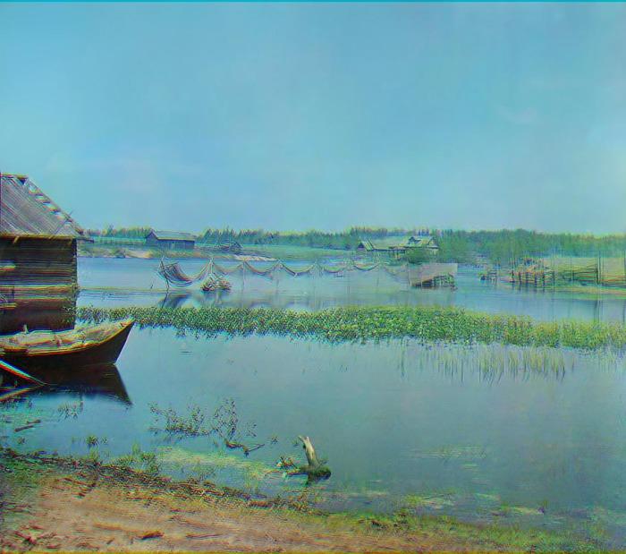 Озеро Пено и место впадения Волги.