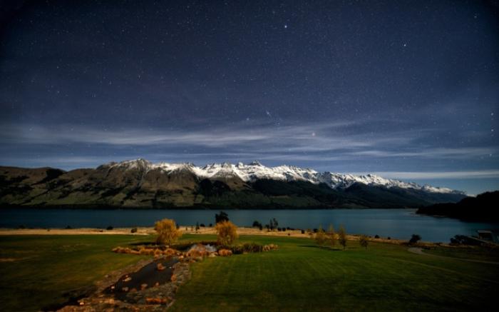 Звездная ночь. Новая Зеландия.