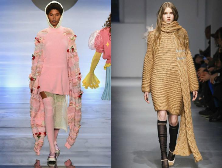 Тотальное утепление: 15 модных вязаных платьев на зиму 2018