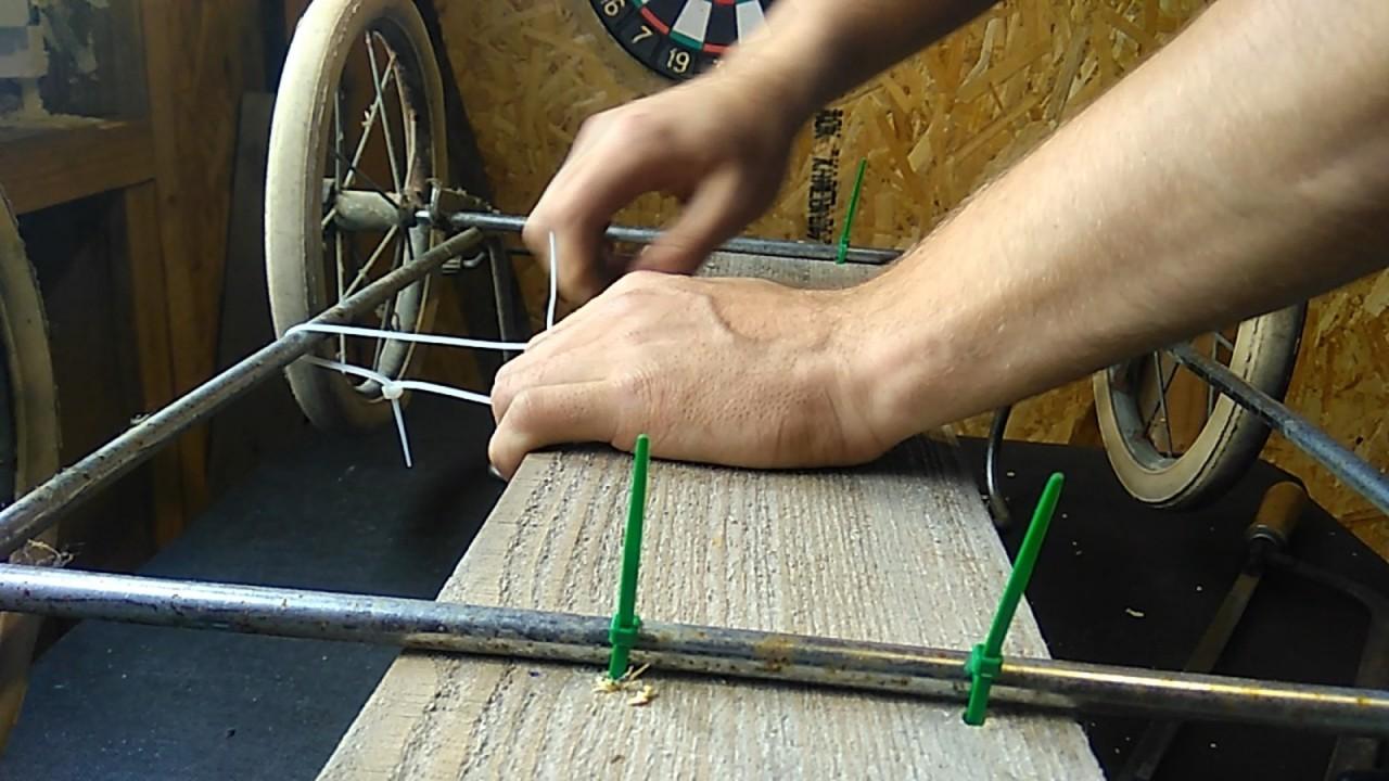 """Как сделать газонокосилку из детской коляски и """"болгарки"""""""