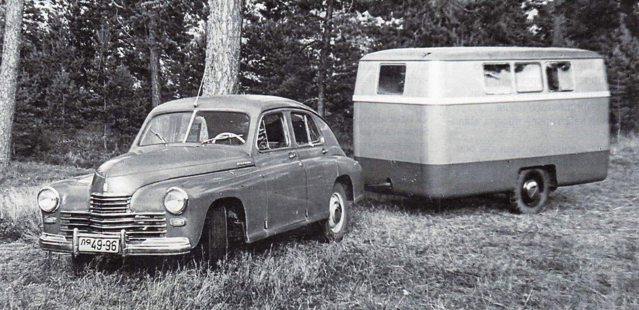 А Вы знали что в СССР производили прицепы-дачи? Оказывается в СССР прицепы-дачи производили с 1958 г и название они имели ну очень знакомое - РАФ-04!