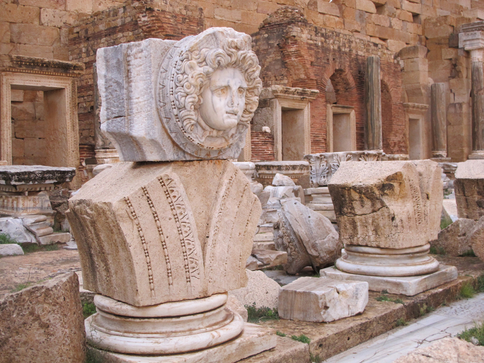 Статуя Медузы, считавшейся богиней плодородия в Северной Африке.  Фото: asor.org.