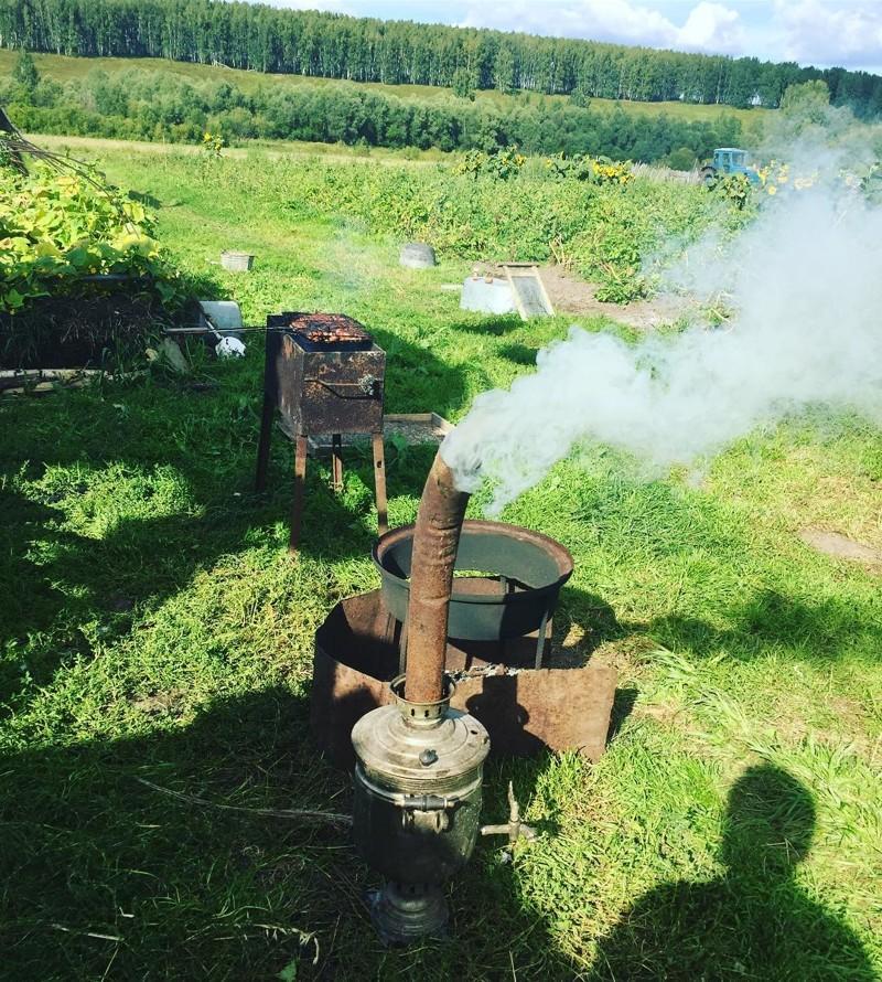Что же вкуснее чая из самовара? деревенская романтика, деревня, село, смешно, технологии, фото