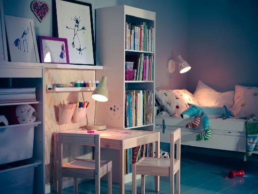 Как обустроить детскую комнату. Освещение детской комнаты - освещение рабочего стола.