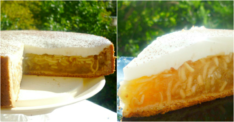 «Янтарный лучик» — красивейший пирог с богатой яблочной начинкой. Так и светится весь!