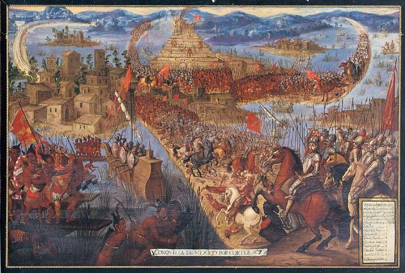 Конкистадоры против ацтеков.…