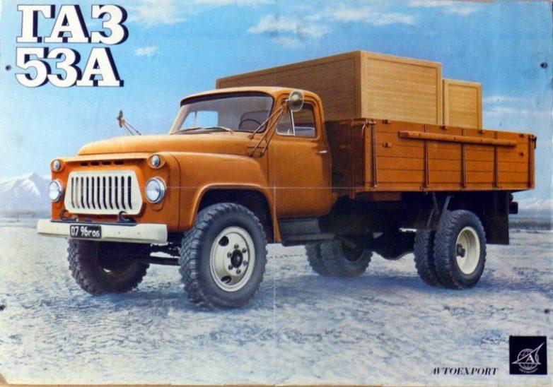 Советские автомобили на рекламных плакатах