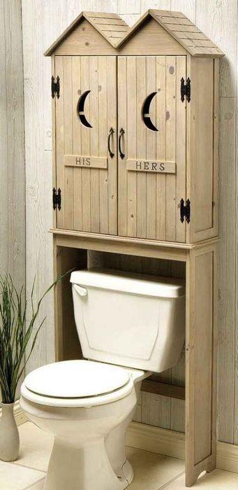 Стильная модель туалетного шкафа.