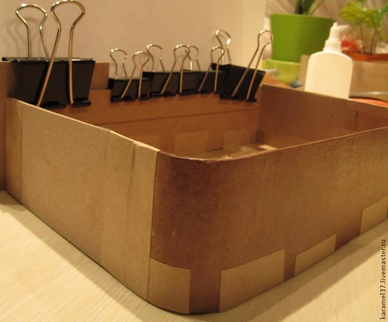Изготовление шкатулки в технике картонаж