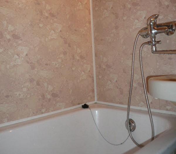 Монтаж панели для ванной комнаты своими руками