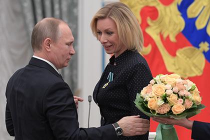 Захарова понадеялась на пользу полученного от Путина ордена в кормлении дочери
