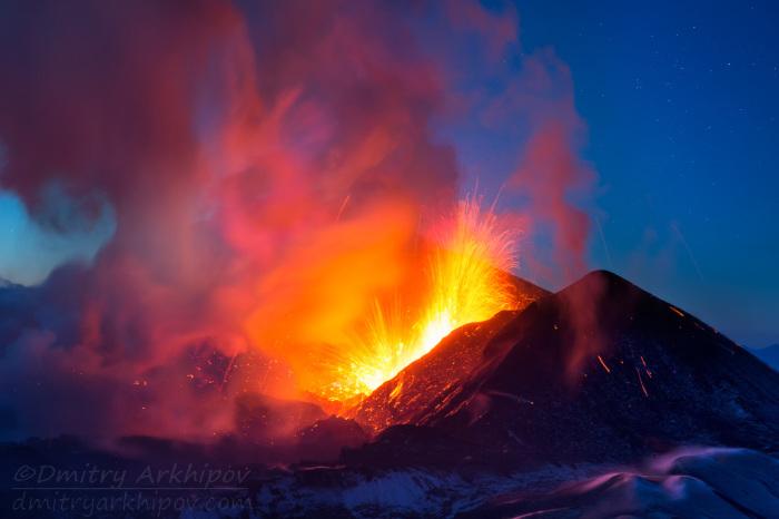 Извержение Толбачика.