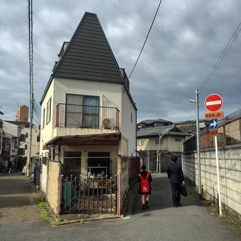 Перед дождем архитектура, дома, здания, киото, маленькие здания, местный колорит, фото, япония