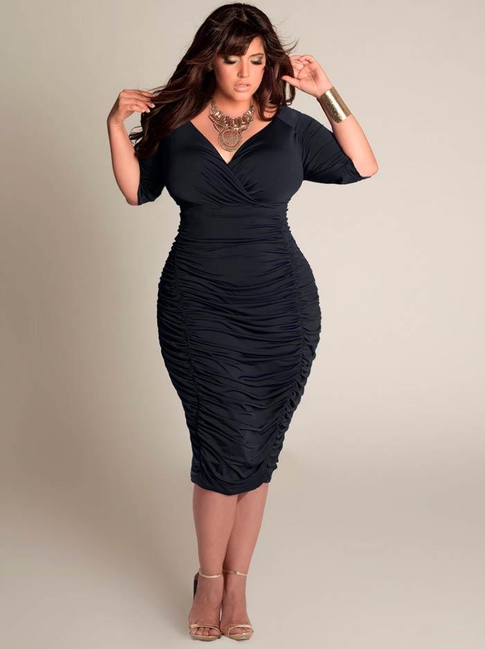 Модные платья для полных женщин 2017