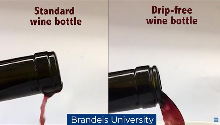Физик изобрел непроливаемую бутылку вина