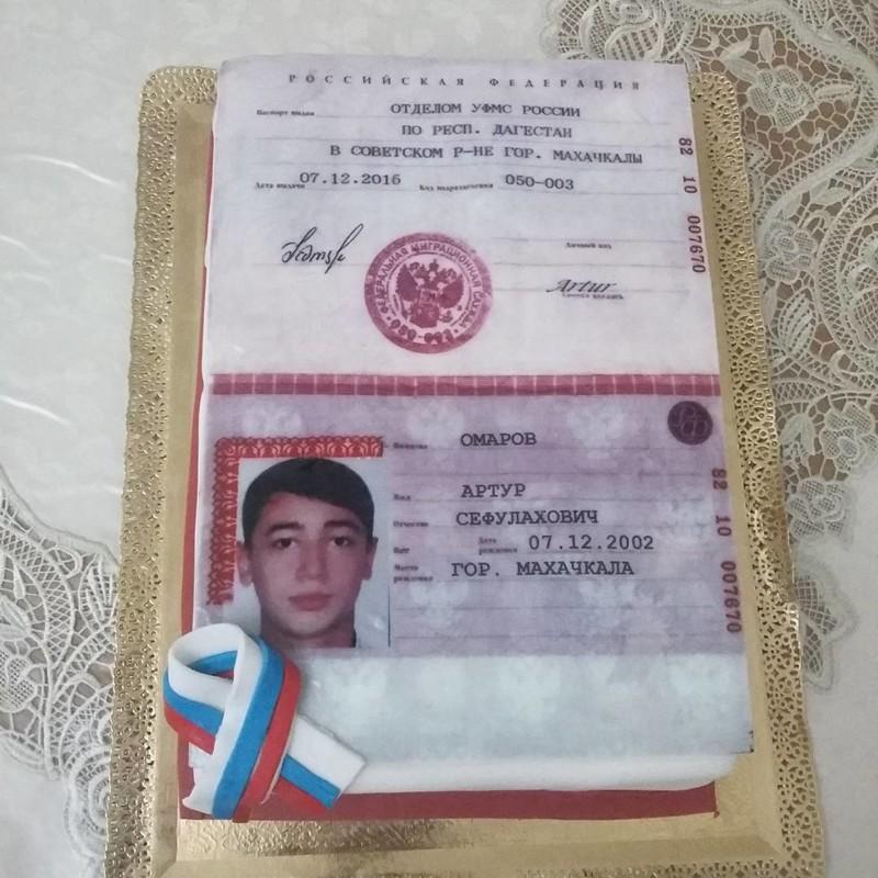 Вот почему-то говорят: не выкладывайте в сеть ксерокопии паспорта... А торт - это не ксерокопия. прикол, россия, торт