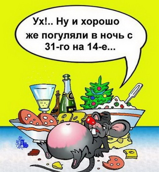 Скоро Старый Новый год! Немножко юмора.