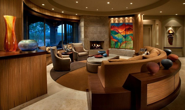 Отличное место для создания прекрасного круглого стола для проведения времени с близкими и родными.