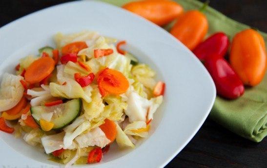 Маринованный салат из овощей