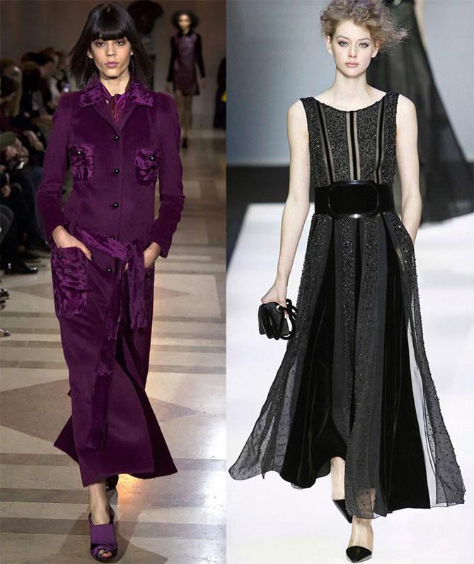 Бархатные стильные платья