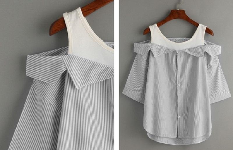 Как переделать мужскую рубашку в необычную блузу