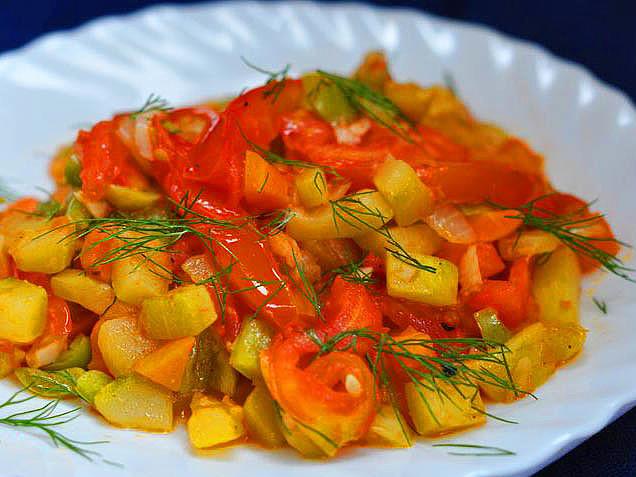 Рагу из кабачков с картошкой рецепты с фото в мультиварке