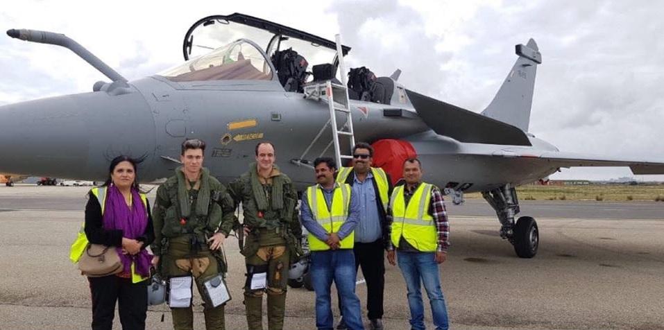 Первый индийский Rаfale в воздухе