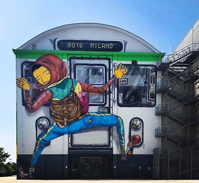 Osgemeos (Бразилия) в мире, граффити, интересное, искусство, подборка, стрит-арт, уличное искусство