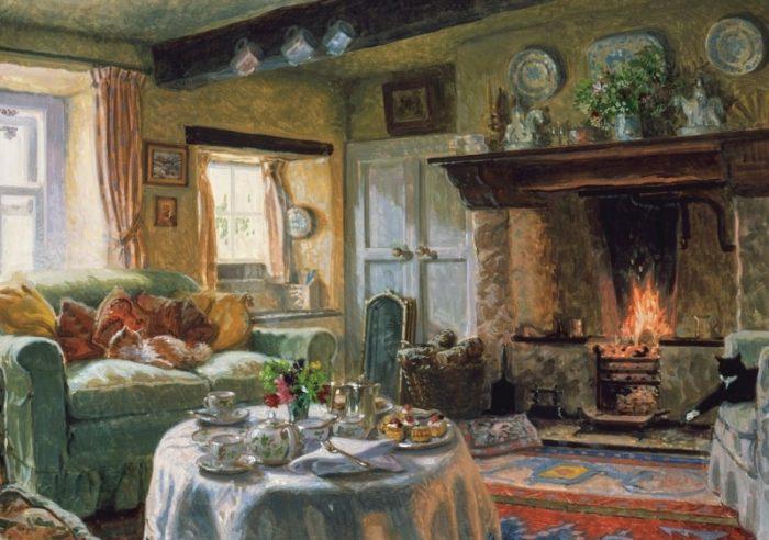 Домик окнами в сад...уютнейшая интерьерная живопись Стивена Дербишира(Stephen Darbishire)