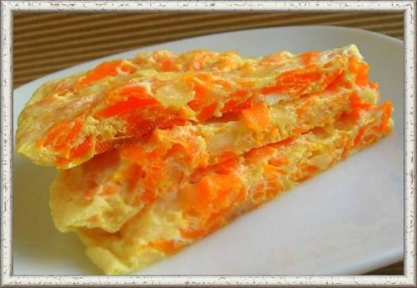 Омлет с морковью рецепт