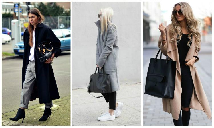 Стиль Casual для женщин, фото. Пальто
