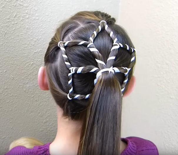 4. Снежинка волосы, праздник, прическа, рождество