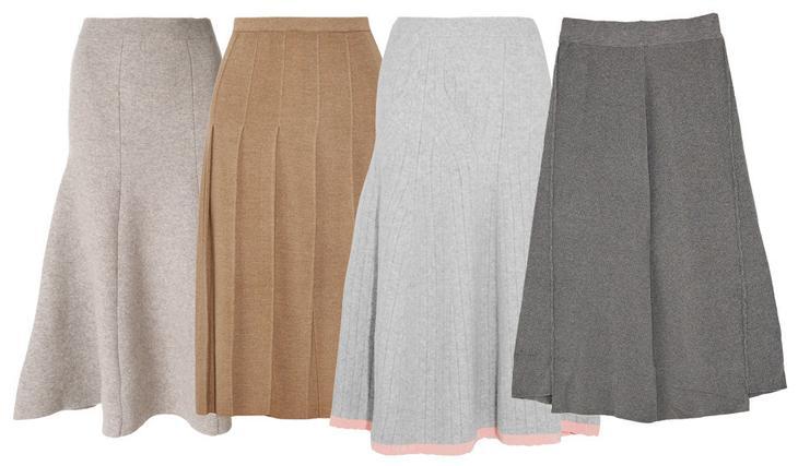 Модная юбка зимой из драпа/шерстяные