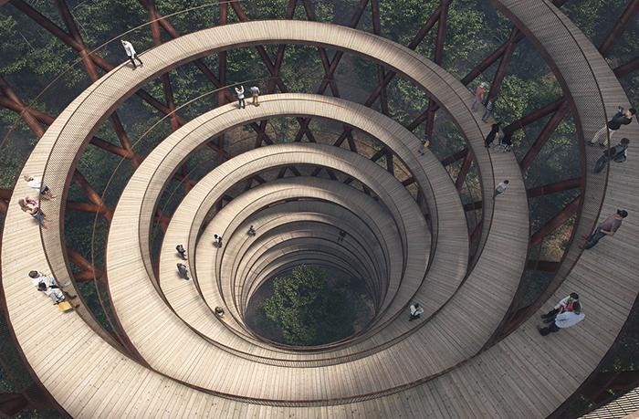 Гуляй – не хочу: в датском лесу появится спиральная башня для пеших прогулок