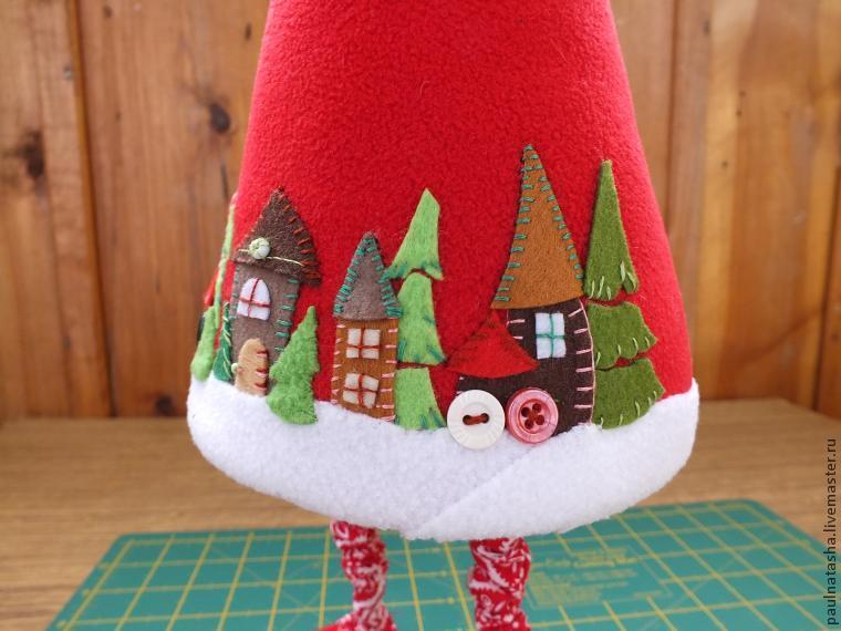 Шьем Деда Мороза из флиса