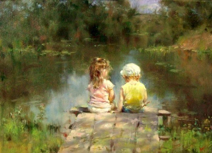 Вернуться к истокам — лето, солнце и детство на картинах Николая Козленко