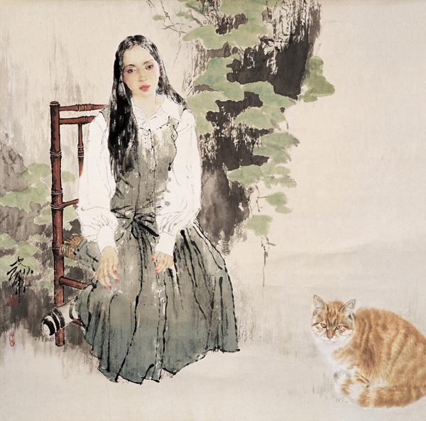 Её лицо как солнце утром ранним... Китайский художник He Jiaying
