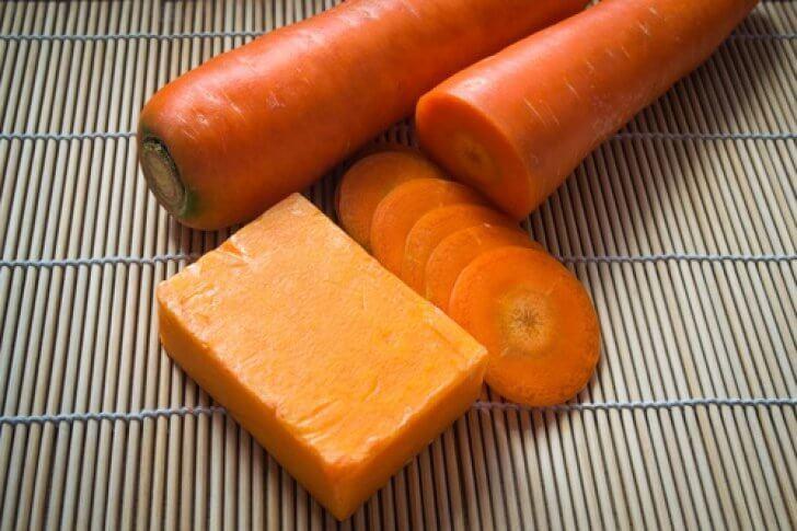 Домашнее мыло из моркови для ухода за кожей