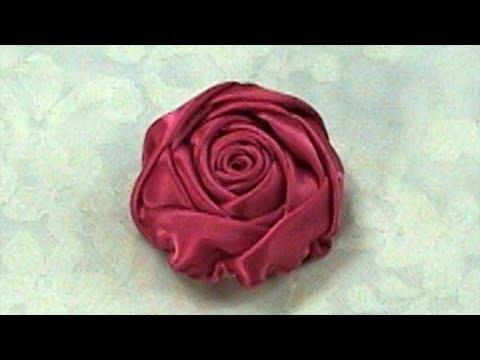 Создание цветов из лент 2.