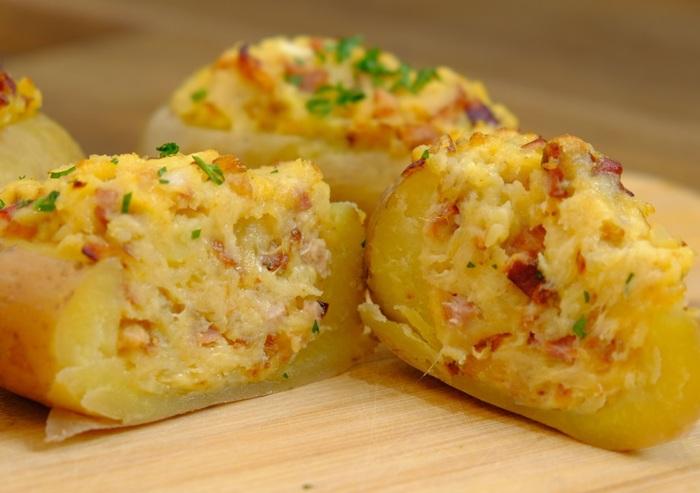 Фаршированный картофель, запеченный в духовке Картофель, Рецепт, Кулинария, Видео, Длиннопост