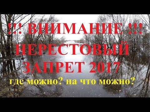 Правила нерестового запрета в слайдах. 2017 г.