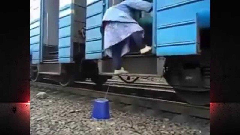 Старая сказка на новый лад бабка, поезд, прикол