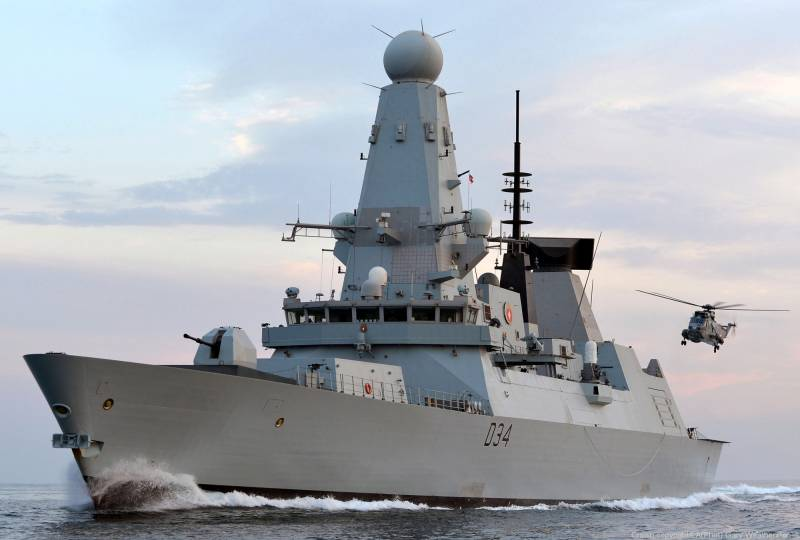 Британский эсминец в Чёрном море
