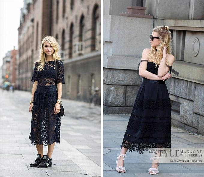 Как носить черный летом