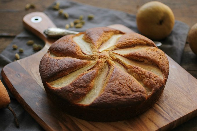 Пирог на кефире с грушей рецепт