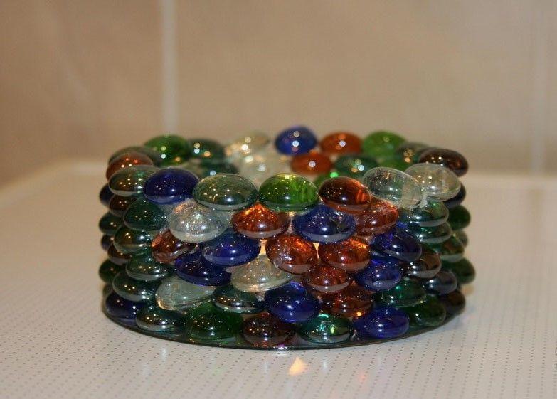 Стеклянные шарики марблс как незаменимый элемент в декорировании