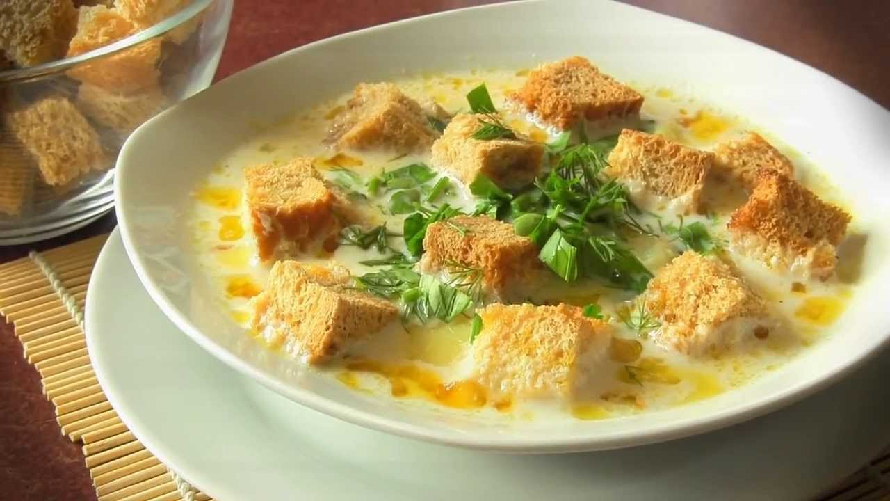 Оладьи яблоком суп-пюре куриный с сыром и гренками делается помощью
