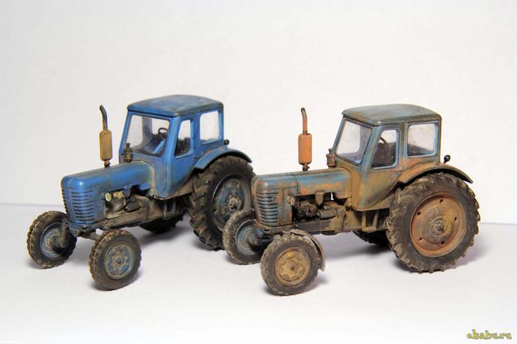 Сборная модель трактора беларусь